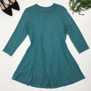 Soft Surroundings | Teal 3/4 Sleeve Tunic Top